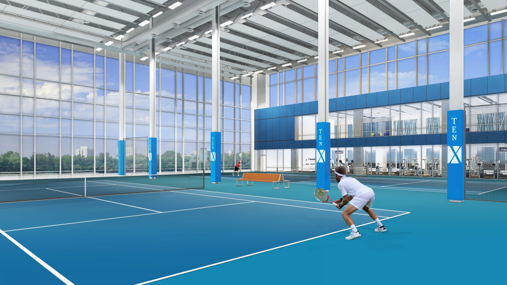 hotel x fitness centre and tennis arena